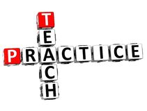 3D Teach Practice Crossword. On white background Stock Images
