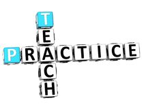 3D Teach Practice Crossword. On white background Stock Photography