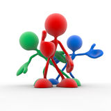 3d team of different colors Stock Photography