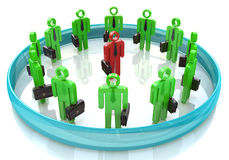 3d team leader boss company teamwork. In the design of information related to business and people Stock Image