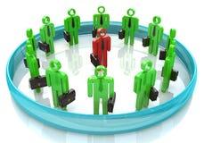 3d team leader boss company teamwork Stock Image