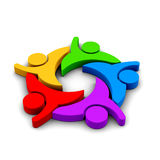 3D Team People Logo icon illustration stock photography