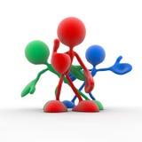 3d team van verschillende kleuren Stock Fotografie