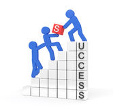 3D Team work for success. Team work concept success 3d Stock Images
