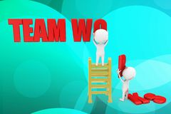 3d team works illustration Stock Images