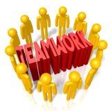 3D teamwork concept Stock Photo