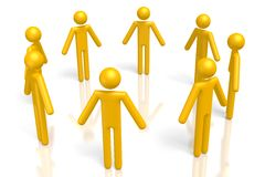 3D teamwork concept Royalty Free Stock Images