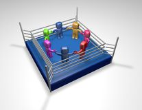 3d teamwork fighting together Stock Image