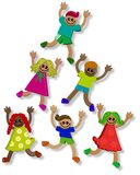 3d Teamwork Kids Stock Photography