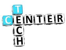 3D Tech Center Crossword. On white background Stock Images