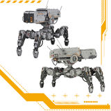 3D Tech Drones Stock Photography