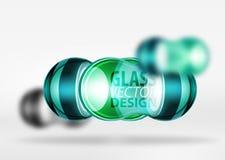 3d techno bąbla szklany projekt Royalty Ilustracja
