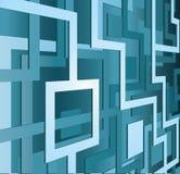 3D Technologie-Achtergrond Stock Afbeeldingen