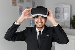 3d technologie van de visieinnovatie, virtuele werkelijkheid Royalty-vrije Stock Fotografie