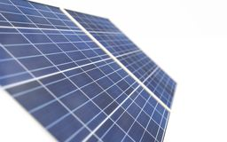 3D technologie van de zonnemachtsgeneratie, geeft terug vector illustratie