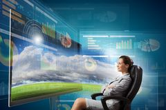 3 d technologii Obraz Stock