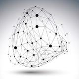 3D technologii wektorowa abstrakcjonistyczna ilustracja, geometryczna Fotografia Royalty Free