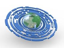 3d technology circle transparent globe Stock Photography