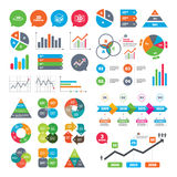 3d technology icons. Printer, rotation arrow. Business charts. Growth graph. 3d technology icons. Printer, rotation arrow sign symbols. Print cube. Market Royalty Free Stock Image