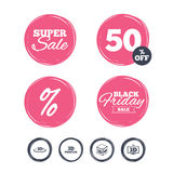 3d technology icons. Printer, rotation arrow. Super sale and black friday stickers. 3d technology icons. Printer, rotation arrow sign symbols. Print cube Stock Photo