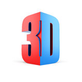 3D technology symbol Stock Photography