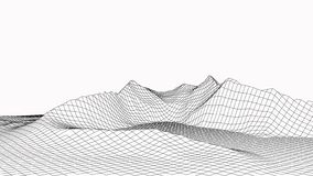 3d technology vector illustration. Abstraction. Landscape design of mountains stock illustration