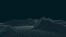3d technology vector illustration. Abstraction. Landscape design of mountains vector illustration