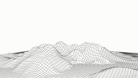 3d technology vector illustration. Abstraction. Landscape design of mountains royalty free illustration