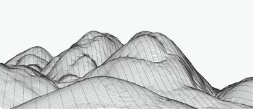 3d technology vector illustration. Abstraction. Landscape design of mountains. Technology vector illustration. Abstraction. Landscape design of mountains. 3d stock photography