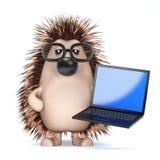 3d Techy hedgehog Royalty Free Stock Photo