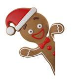 3d tecken, gladlynt pepparkaka, rolig garnering för jul, Royaltyfri Fotografi