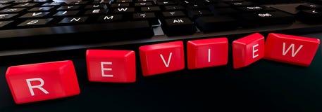 3d teclado - concepto del texto del comentario Imagen de archivo
