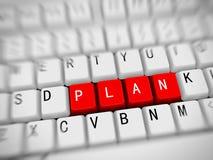 3d teclado - plan de la palabra Foto de archivo