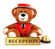 3d teddy bear bellboy Royalty Free Stock Photo