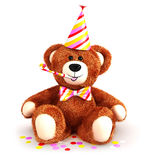 3d teddy bear party. White background, 3d image Royalty Free Stock Image