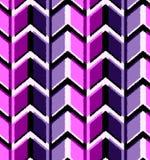 3D tekeningszigzag in modieuze kleuren van ultraviolet en blauw Naadloos patroon geometrisch ornament vector illustratie