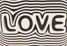 3 d tekst miłości Obrazy Stock