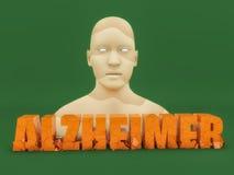 3d tekst van Alzheimer Stock Foto