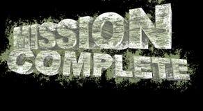 3D tekst van opdracht de volledige grunge, illustratie Stock Foto