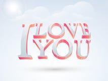 3D tekst voor de Dagvieringen van Gelukkig Valentine Stock Foto