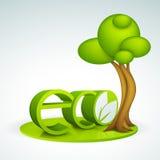 3D tekst voor Ecologieconcept Stock Foto's
