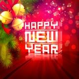 3D tekst voor Gelukkige Nieuwjaarviering Stock Foto