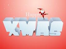 3D Tekst voor Kerstmisviering Stock Foto's