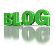 3d teksta blog, odizolowywający z odbiciem royalty ilustracja