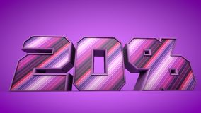 20% 3d teksta purpurowa ilustracja Obrazy Stock