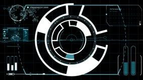 2d tela de HUD do SCIFI ilustração stock
