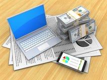 3D telefoon Royalty-vrije Stock Afbeeldingen