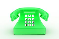 3d  telephonce concept Stock Photo