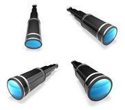 3D Telescope icon. 3D Icon Design Series. Royalty Free Stock Photography