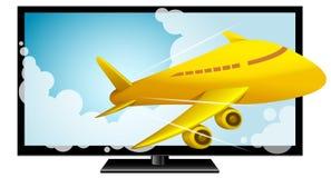 3D televisão, HDTV, tevê de Smart, eletrônica Imagem de Stock Royalty Free